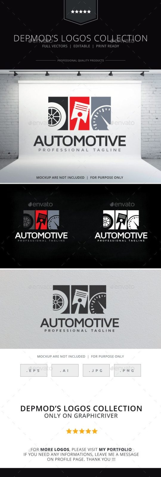 Repair Car Logo Template for Your Car Station Business Card
