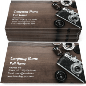 Retro Film Camera Business Card Template