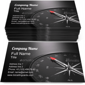 Compass Direction North Business Card Template