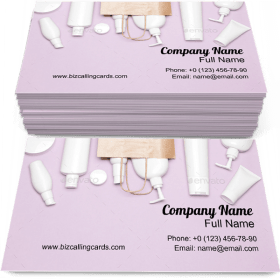 Cosmetic Products Set Business Card Template