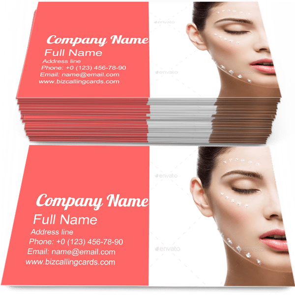 Sample of Cream Dots calling card design for advertisements marketing ideas and promote skincare branding identity