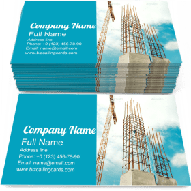 Installing Concrete Walls Business Card Template