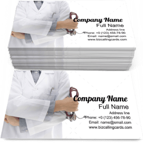 Medic Physician Doctor Business Card Template