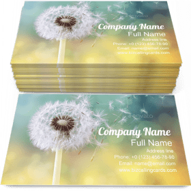 Morning Dandelion Business Card Template