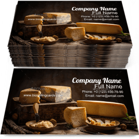 Various Types of Cheese Business Card Template