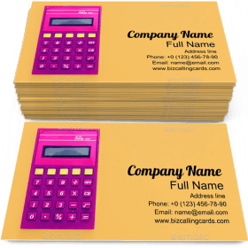 Vintage Calculator Business Card Template