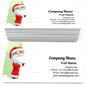 Santa Claus with snow Business Card Template