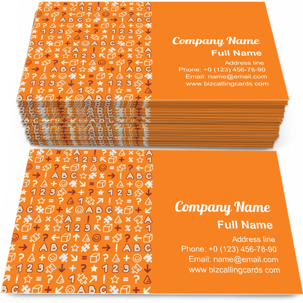 Sample of Seamless Educational Pattern calling card design for advertisements marketing ideas and promote school branding identity