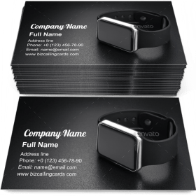 Smart wrist watches Business Card Template