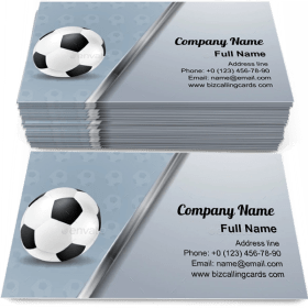 Soccer With Metallic Stripe Business Card Template