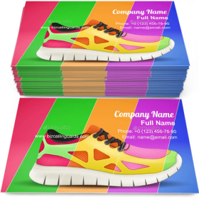 Sporting sneakers Business Card Template