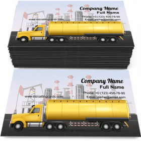 Tank for oil transportation Business Card Template
