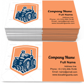 Tractor Plowing Farm Business Card Template
