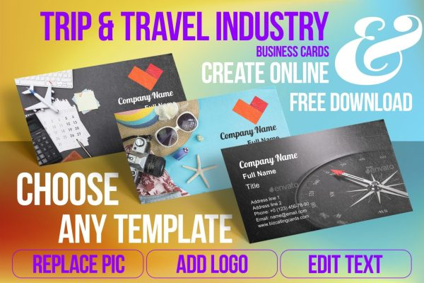 Business Card Templates For Travel Industry Free Download