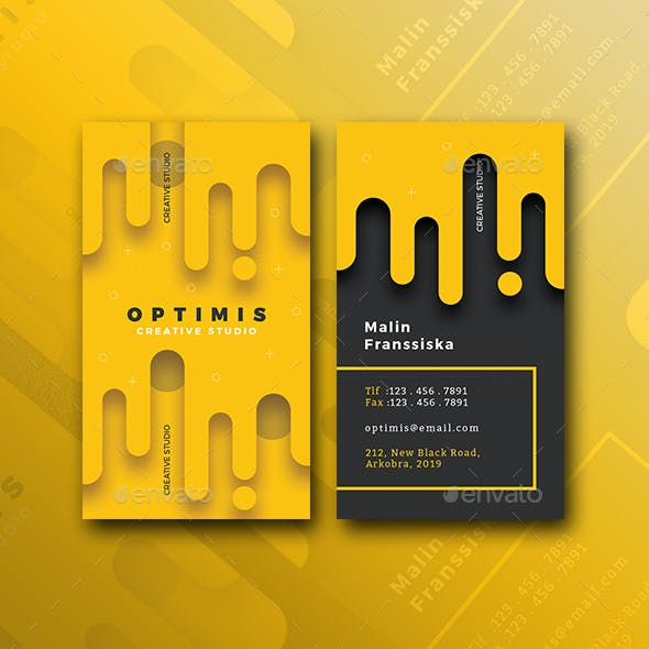Vertical Fade Creative Business Card Free Download