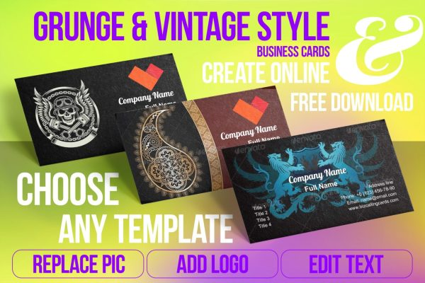 Business Card Templates For Vintage Style Free Download