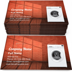 Washing Machine Business Card Template