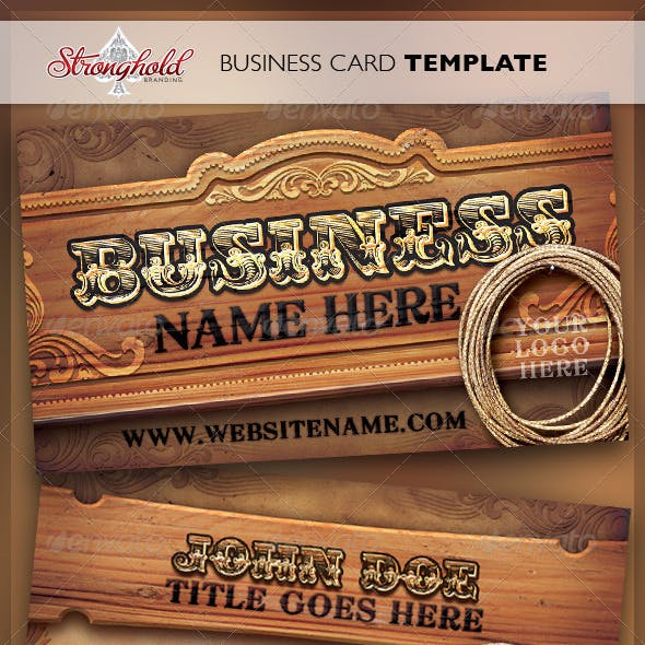 Wild West Business Card Template Free Download