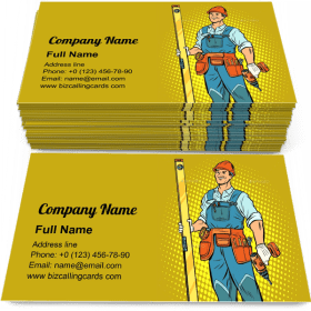 Working with a Drill Business Card Template