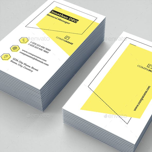 Yellow Color of Business Cards