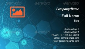Abstract Technology network Business Card Template
