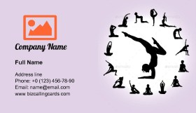 Yoga Silhouettes Business Card Template
