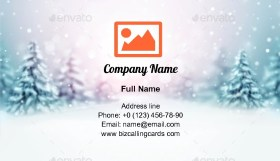 Winter is Coming Business Card Template