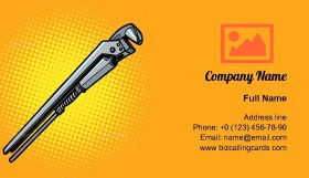 Adjustable Wrench Business Card Template