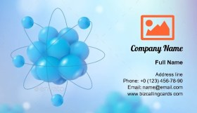 3d Abstract Scientific Business Card Template