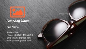 Classic sunglasses Business Card Template