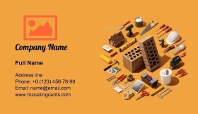 Home renovation and remodeling Business Card Template