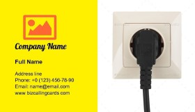 Outlet on the wall Business Card Template