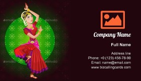 Indian Classical Dance Business Card Template