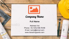 Project construction blueprints Business Card Template
