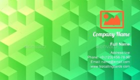 Bright abstract geometric Business Card Template
