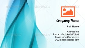 Abstract futuristic wavy Business Card Template