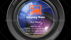 Photo lens Illustration Business Card Template
