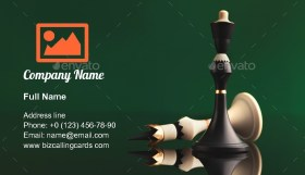 Black King wins Business Card Template
