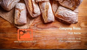 Fresh bread border Business Card Template