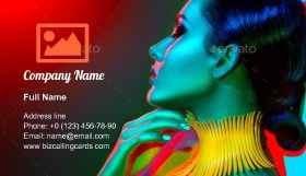 Manicure and haircut Business Card Template