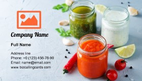 Variation of sauces Business Card Template