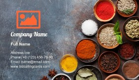 Various spices and herbs Business Card Template