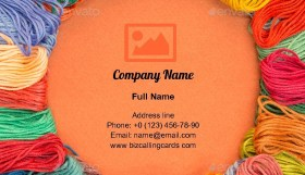 Knitting wool Business Card Template