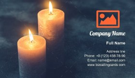 Two burning candles Business Card Template