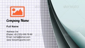 Overlapped sheets of paper Business Card Template