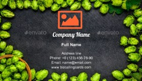 Hops and Hop flowers Business Card Template