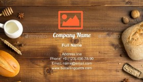 Homemade bakery ingredients Business Card Template