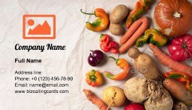 Trendy ugly organic vegetables Business Card Template