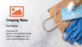 Personal protective equipment Business Card Template