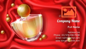 Womans Luxury Perfume Business Card Template